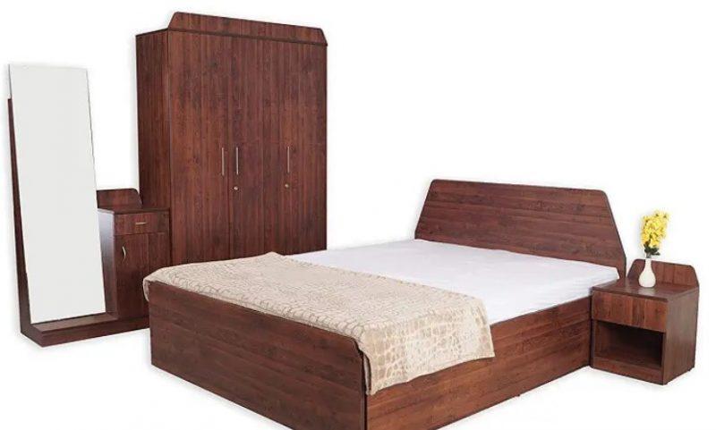 مجموعه اتاق خواب 4 تکه چوبی