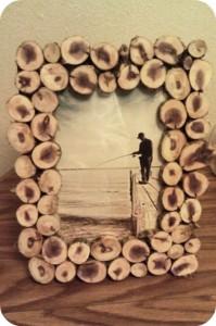 لوازم لوکس دکوری - قاب عکس ساخته شده با شاخه درخت