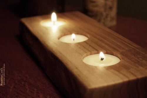 جا شمعی چوبی لوکس