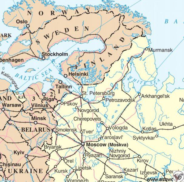 محل آرخانگلسک در شمال غربی روسیه