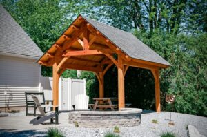مدل سقف آلاچیق , سقف چوبی جالب