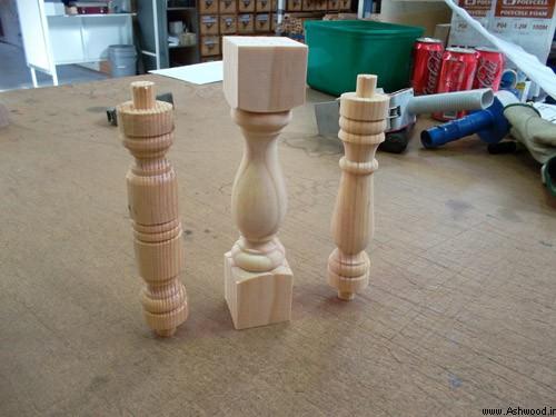 نمونه نرده چوبی برای تکیه گاه تخت و صندلی, مدل نرده چوبی