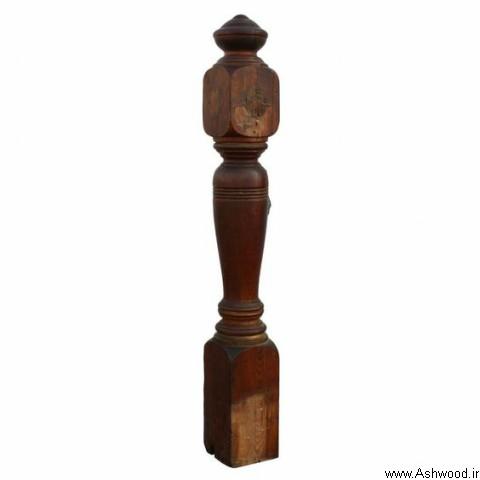 نرده چوبی آنتیک, مدل های جالب نرده و پایه  خراطی از انواع چوب مختلف