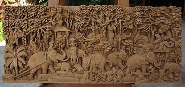 یک اثر خاص و منحصر بفرد از منبت کاری روی چوب در ویتنام