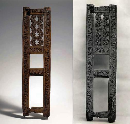 منبر چوبی منبت کاری شده متعلق به 900 سال قبل