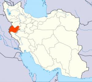 موقعیت استان کرمانشاه در ایران