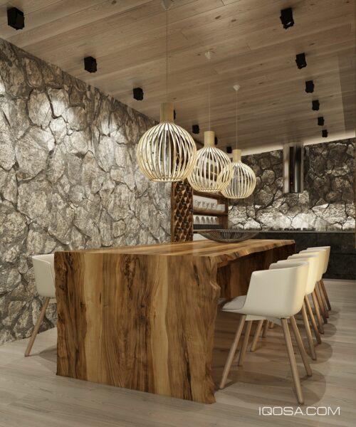 میزهای غذاخوری چوبی در خانه