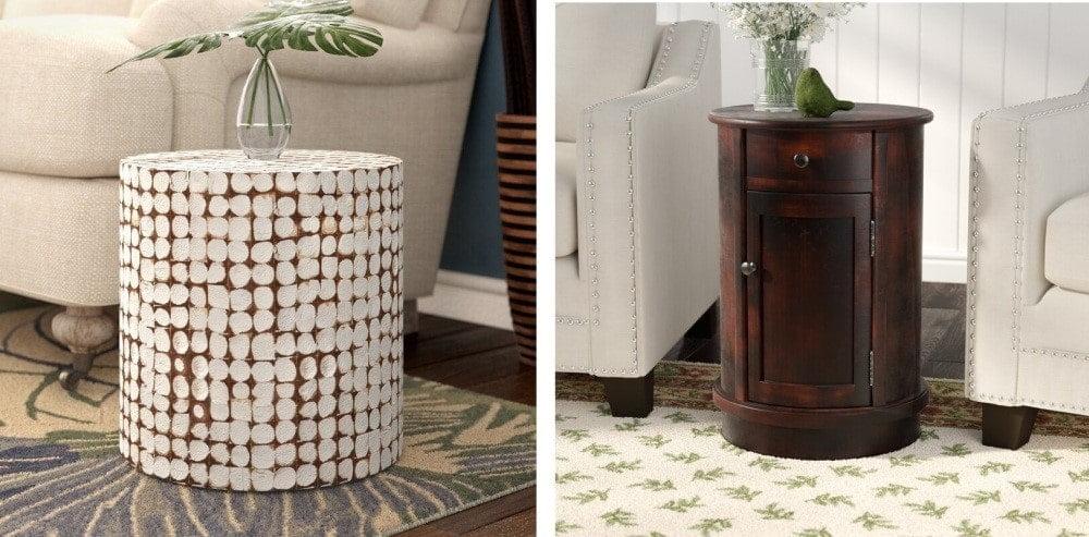 میز های گرد چوبی که باعث صرفه جویی در فضا می شوند