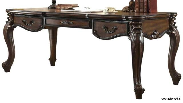 میز تحریر کلاسیک چوبی سفارشی