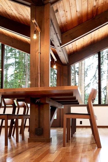 میز اطراف ستون , میز بار , یده های جالب انواع میز متصل به ستون