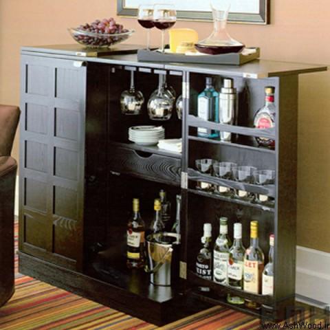 میز بار کنسول دار , کنسول بار و کمد بار ، کابینت بار ، میز بار
