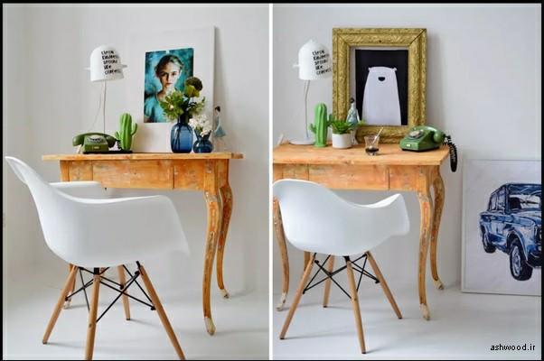 میز تحریر چوبی , دکوراسیون چوبی منزل