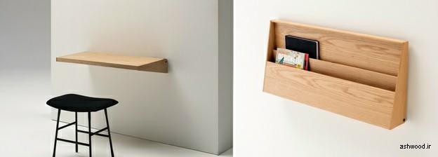 انواع میز تحریر چوبی دیواری