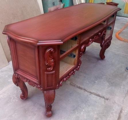 میز تحریر چوب راش منبت کاری سبک لوکس سلطنتی