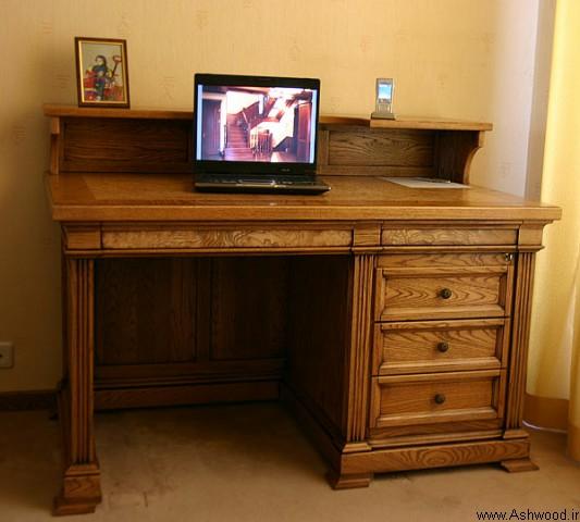 ساخت میز تحریر چوبی از چوب طبیعی + مدل و ایده میز تحریر
