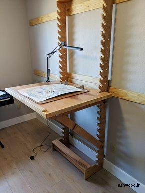 میز تحریر با شیب و ارتفاع تنظیم شونده  میز چند منظوره طراحی