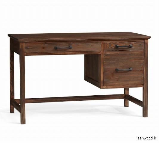 میز تحریر و میز کار تمام چوب کاج سبک روستیک , میز تحریر ارزان