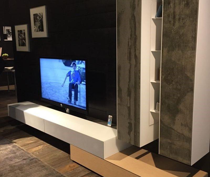 میز تلویزیون و واحد دیواری مدرن چوبی