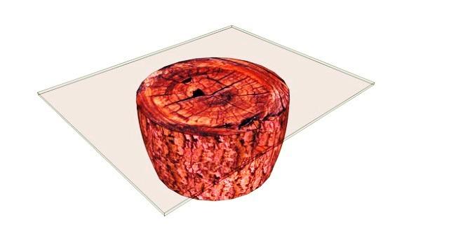 میز تنه درخت و شیشه در دکوراسیون داخلی