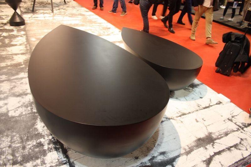 میز جلومبلی قطره ای شکل