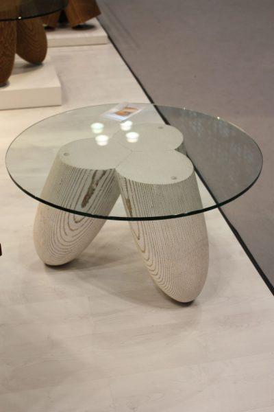 میز جلو مبلی شیشه ای گرد