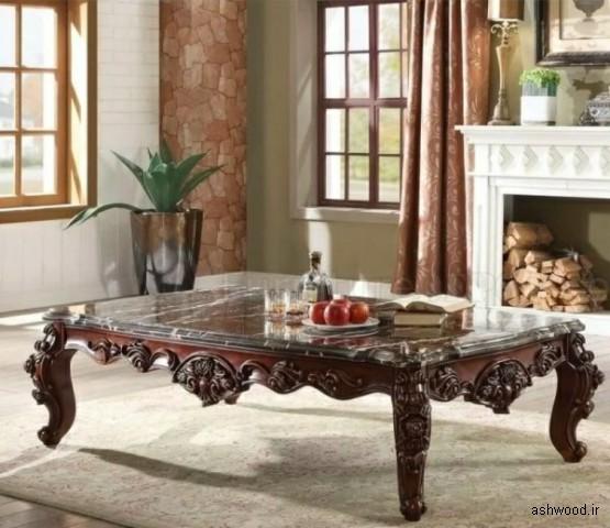 میز جلو مبلی , میز های قهوه سنگ مرمر و مصنوعی که ظرافت را..