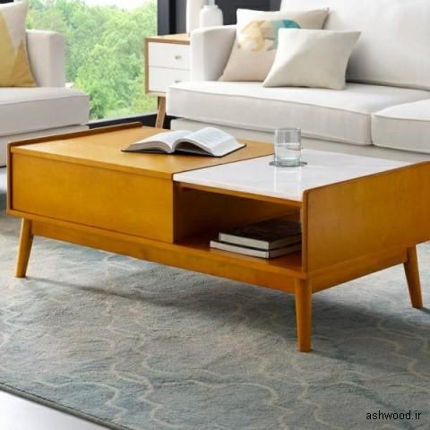 میز جلو مبلی , ایده و مدل های دکوراسیون چوبی