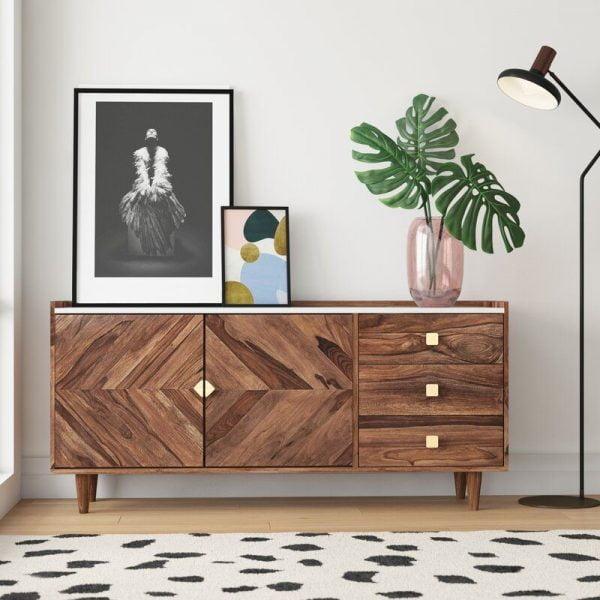 میز دراور چوبی آکاسیا آلانا