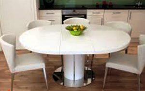 میز سفید اشپزخانه کوچک