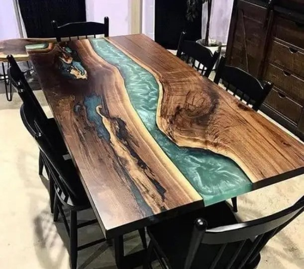 میز غذاخوری رزینی