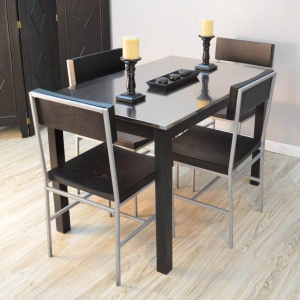 میز غذاخوری فلزی