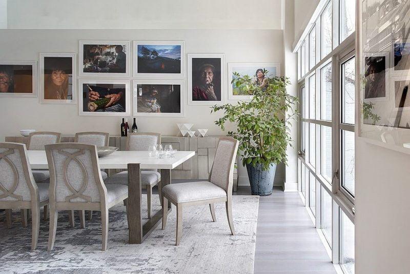 میز غذاخوری چوبی سفید