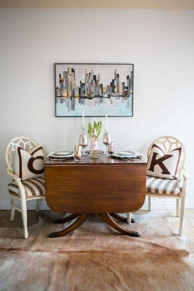 میز غذا خوری چوبی ورقه ای