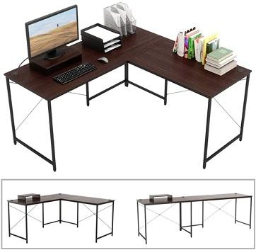 میز فلزی با صفحه چوبی
