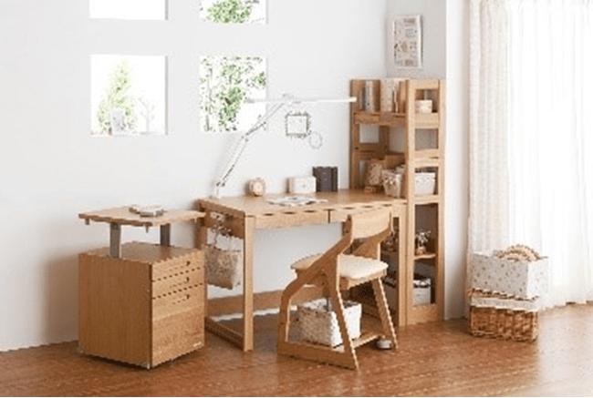 میز مطالعه از چوب بلوط