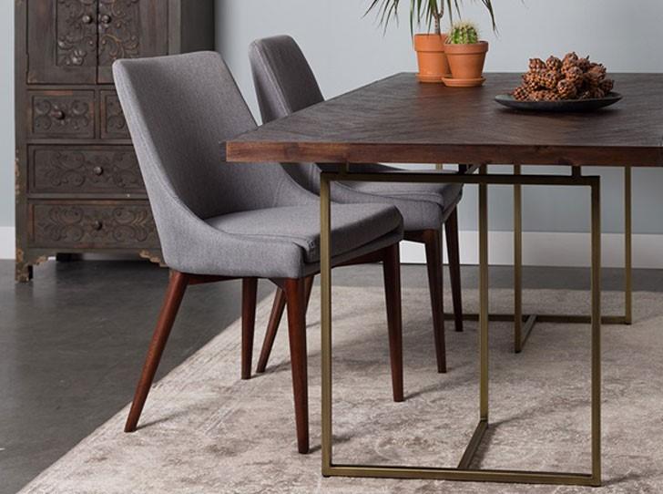 میز ناهارخوری چوبی و فلزی