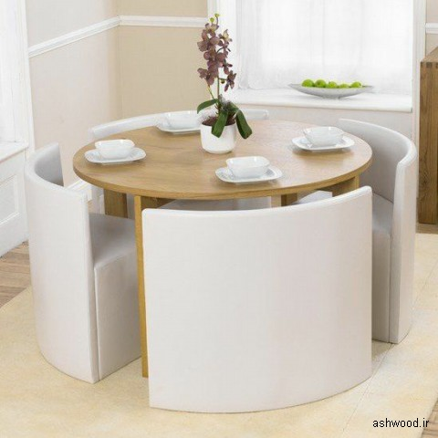 میز ناهارخوری چوبی کم جا و کوچک