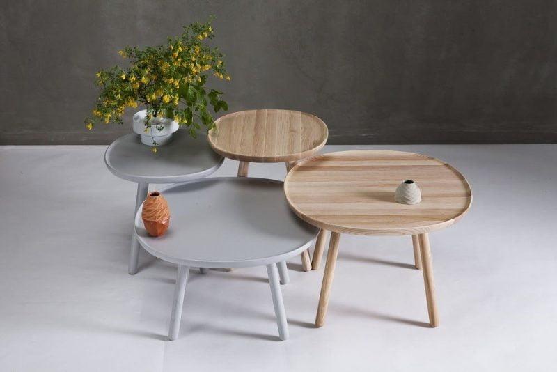 میز های کنار مبلی چوبی ساده