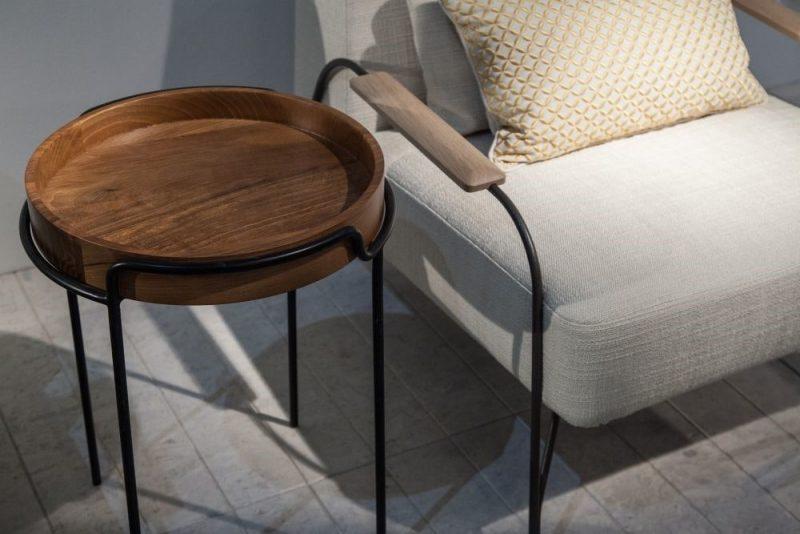 میز های کنار مبلی چوبی سینی دار