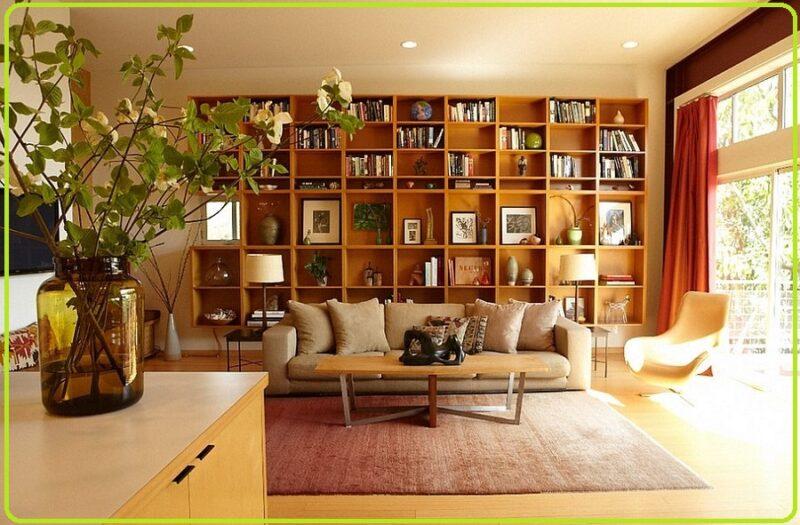 کتابخانه اتاق نشیمن