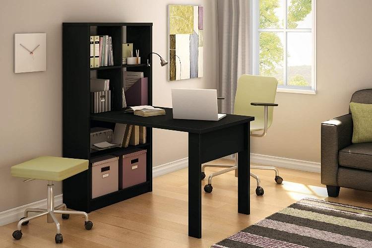 کتابخانه و میز تحریر مینیمال , یک سازه کوچک و کاربردی برای خانه