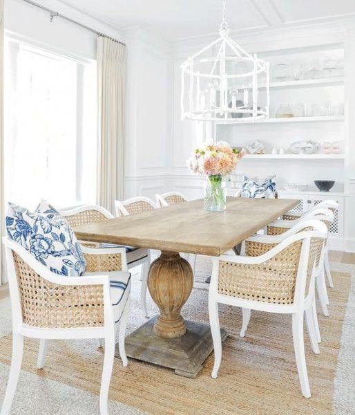 میز چوبی روستیک