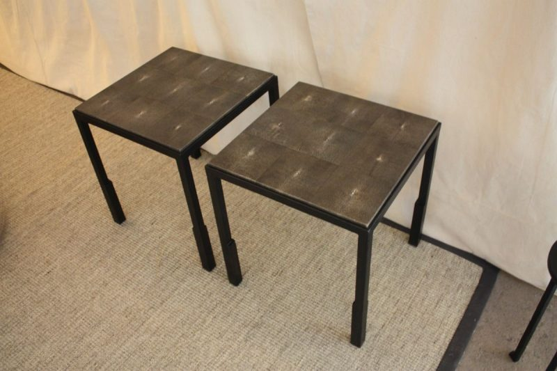 میز چوبی فلزی