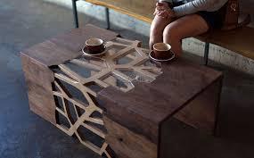 میز چوبی قهوه خوری مدرن