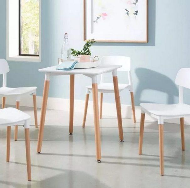میز چوبی ناهار خوری با ارتفاع به نام کارن