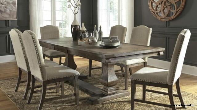 میز ناهارخوری چوبی 6 نفره تمام چوب