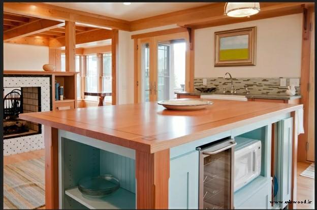 میز چوبی آشپزخانه , چوب خالص
