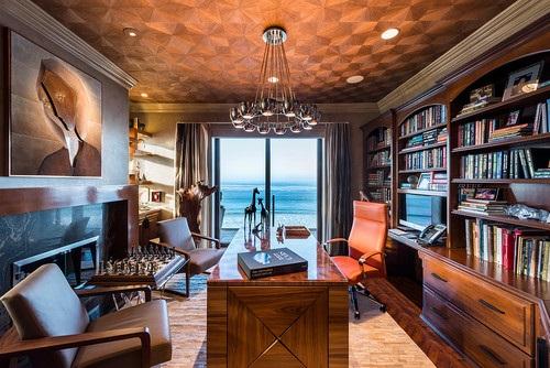 میز تحریر و کتابخانه در فضای داخلی - الهام بخش طراحی خانه گرمسیری را کشف کنید