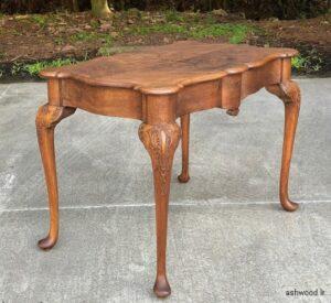 میز تحریر و کار آنتیک چوب گردو , میز چوبی نوشتن قدیمی