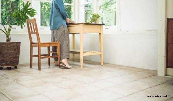 دکوراسیون و میز اتاق کار , میز چوبی